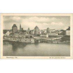 carte postale ancienne 67 STRASBOURG STRASSBURG. Bei den gedeckten Brücken