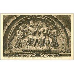 carte postale ancienne 67 STRASBOURG STRASSBURG. Cathédrale. Couronnement Vierge