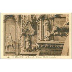 carte postale ancienne 67 STRASBOURG STRASSBURG. Cathédrale. Gargouilles sud