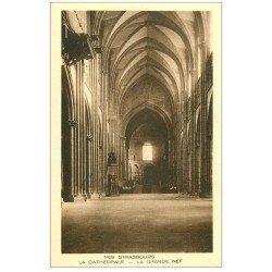 carte postale ancienne 67 STRASBOURG STRASSBURG. Cathédrale. Grande Nef