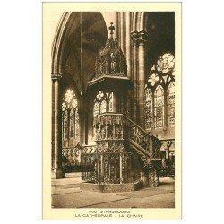 carte postale ancienne 67 STRASBOURG STRASSBURG. Cathédrale. La Chaire