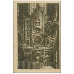 carte postale ancienne 67 STRASBOURG STRASSBURG. Cathédrale. L'horloge Astronomique