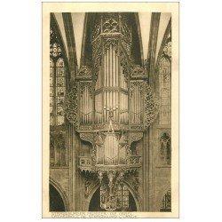 carte postale ancienne 67 STRASBOURG STRASSBURG. Cathédrale. L'Orgue