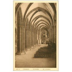 carte postale ancienne 67 STRASBOURG STRASSBURG. Cathédrale. Nef latérale
