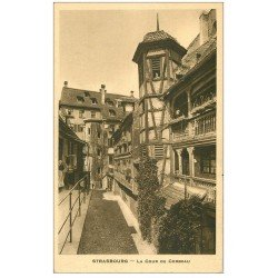 carte postale ancienne 67 STRASBOURG STRASSBURG. Cour du Corbeau 1949