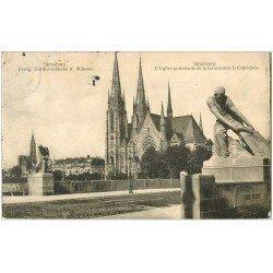 carte postale ancienne 67 STRASBOURG STRASSBURG. Eglise Garnison 1913