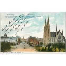carte postale ancienne 67 STRASBOURG STRASSBURG. Eglise Protestante de la Garnison 1901