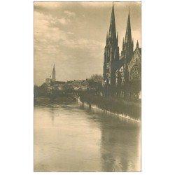carte postale ancienne 67 STRASBOURG STRASSBURG. Eglise Protestante Saint-paul . Carte photo bords dentelés
