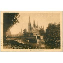 carte postale ancienne 67 STRASBOURG STRASSBURG. Eglise Protestante St-Paul 1932
