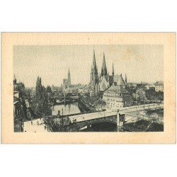 carte postale ancienne 67 STRASBOURG STRASSBURG. Eglise Saint-Paul et Cathédrale LL.