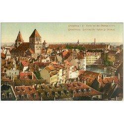carte postale ancienne 67 STRASBOURG STRASSBURG. Eglise Saint-Thomas