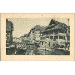 carte postale ancienne 67 STRASBOURG STRASSBURG. Embarcation à la Petite France
