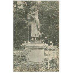 carte postale ancienne 67 STRASBOURG STRASSBURG. Gänseliesel Orangerie Statue