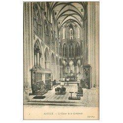 carte postale ancienne 14 BAYEUX. Cathédrale le Choeur 1