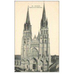 carte postale ancienne 14 BAYEUX. Cathédrale n°51 Façade