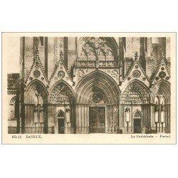 carte postale ancienne 14 BAYEUX. Cathédrale Portail 12