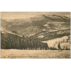 carte postale ancienne 67 VALLEE DE LA BRUCHE ET LE DONON 1927 avec promeneur