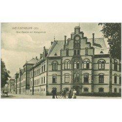 carte postale ancienne 67 WEISSENBURG WISSEMBOURG. Neue Kaserne mit Stabsgebäude