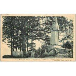 carte postale ancienne 67 WÖRTH SUR SAUER. Monument Cuirassier et Arbre de Mac-Mahon 1933