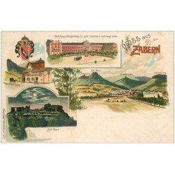 carte postale ancienne 67 ZABERN SAVERNE. Schloss Kaserne. Restaurant Greifenstein et Hoh-Barr. Carte Pionnière vers 1900