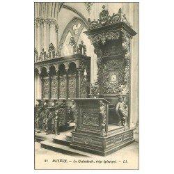 carte postale ancienne 14 BAYEUX. Cathédrale Siège épiscopal