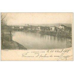 carte postale ancienne 69 ANSE. L' Azergues 1903