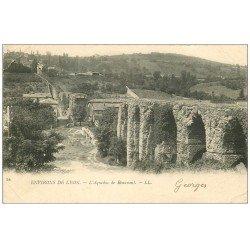 carte postale ancienne 69 AQUEDUC ROMAIN DE BONNANT 1902