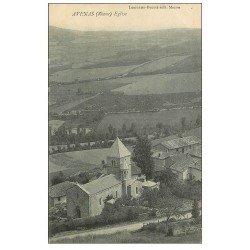 carte postale ancienne 69 AVENAS. L'Eglise vue de haut