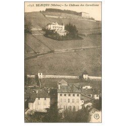carte postale ancienne 69 BEAUJEU. Château des Cornillons