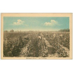 carte postale ancienne 69 BEAUJEU. Les Vendanges 1935. Métiers de la Vigne, du Vin et des Vignobles