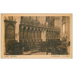 carte postale ancienne 14 BAYEUX. Cathédrale Stalles et Orgues