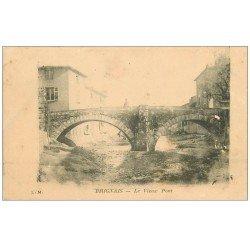 carte postale ancienne 69 BRIGNAIS. Le Vieux Pont 1905