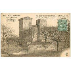 carte postale ancienne 69 CHARLY. Château Chapitre de Saint-Just 1924