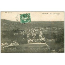 carte postale ancienne 69 CHARLY. Vue panoramique 1925