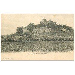 carte postale ancienne 69 CHATEAU DE MONTMELAS 1905