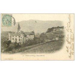 carte postale ancienne 69 CHATEAU DE PRONY 1903