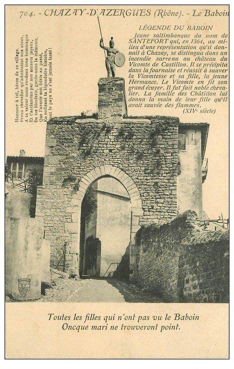 carte postale ancienne 69 CHAZAY-D'AZERGUES. Le Baboin