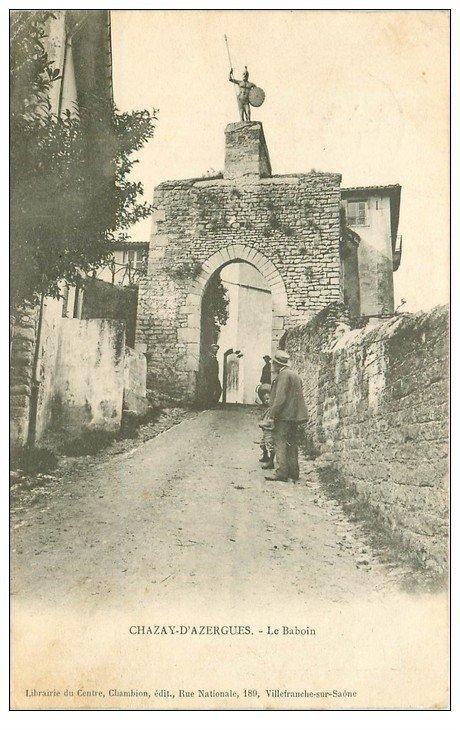 carte postale ancienne 69 CHAZAY-D'AZERGUES. Le Baboin 1904