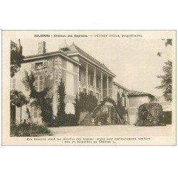carte postale ancienne 69 JULIENAS. Château des Capitans Peyret. Cru Réservé. Vins et Vignobles