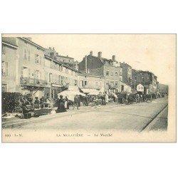 carte postale ancienne 69 LA MULATIERE. Le Marché