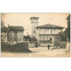 carte postale ancienne 69 LA TOUR DE SALVAGNY. Le Restaurant Chaverondier