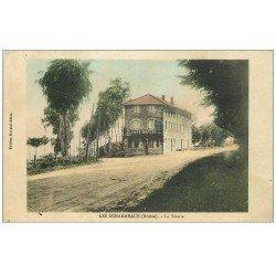 carte postale ancienne 69 LES ECHARMEAUX. La Scierie et Café Dupuis