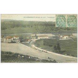 carte postale ancienne 69 LES ECHARMEAUX. Vue générale 1907 animation