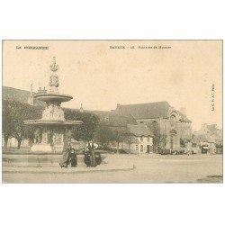 carte postale ancienne 14 BAYEUX. Fontaine de Moutier 1903