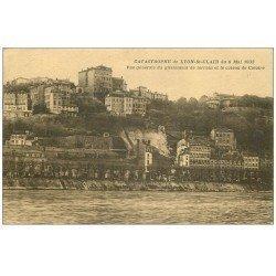 carte postale ancienne 69 LYON. Catastruphe 1932 glissement terrain