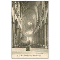 carte postale ancienne 69 LYON. Cathédrale Saint-Jean