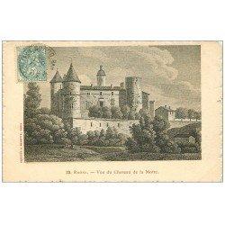 carte postale ancienne 69 LYON. Château de la Motte 1905. Publicité Maggi