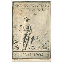 carte postale ancienne 69 LYON. Concours de Tir 1904. Timbre manquant
