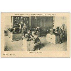 carte postale ancienne 69 LYON. Ecole Sciences Industriels La Martinière. Laboratoire Electricité