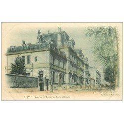carte postale ancienne 69 LYON. Ecole Service Santé Militaire vers 1900